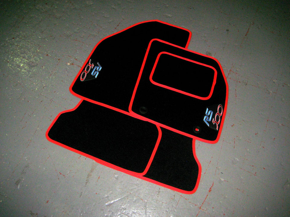 Ford Focus RS 500 (2009-2010) Tailored Logo Car Mats + RS500 Logos