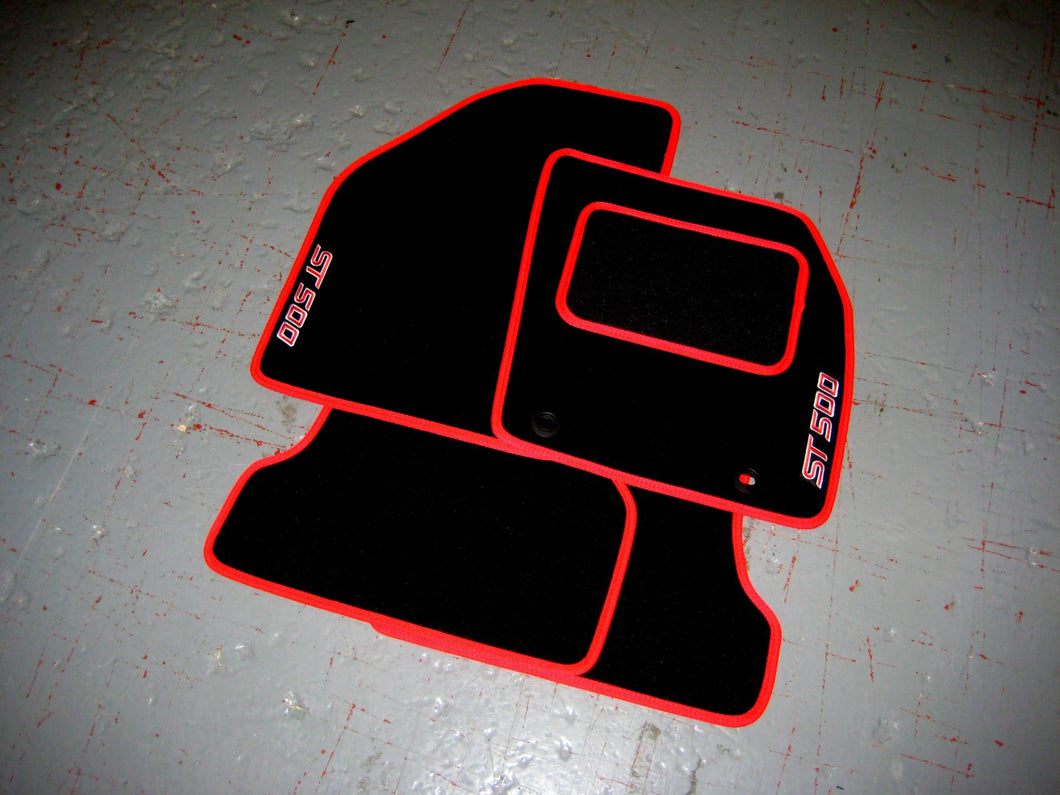 Ford Focus Mk2 ST500 (2007-2009) Tailored Logo Car Mats + ST500 Logos