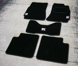 Nissan Skyline R34 GTR (1998-2002) Tailored Logo Car Mats + GT-R Logos
