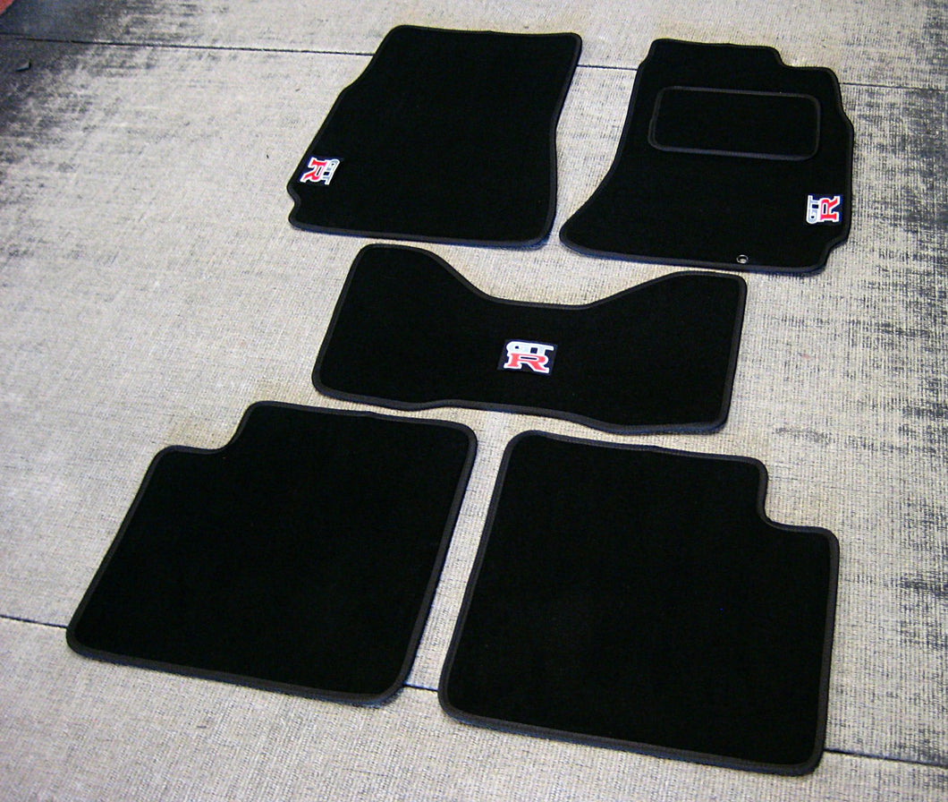 Nissan Skyline R33 GTR (1993-1998) Tailored Logo Car Mats + GT-R Logos