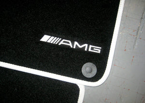Mercedes-Benz E-Class Saloon (2009-2016) Tailored Logo Car Mats + AMG Logos