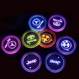 (Only £11.99 TODAY) 7 Colors Led Changing Car Logo Cup Coaster(1PC), TYPE - Ferrari