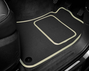 Mercedes-Benz C-Class Coupe (2011-2015) Tailored Logo Car Mats + Mercedes-Benz Logos