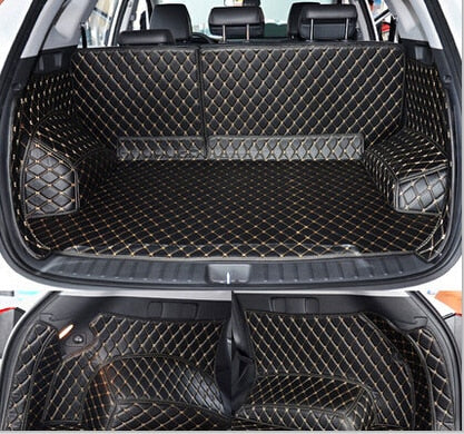 High quality Full set car trunk mats for Hyundai Tucson 2017 waterproof boot carpets cargo liner mat for Tucson 2016