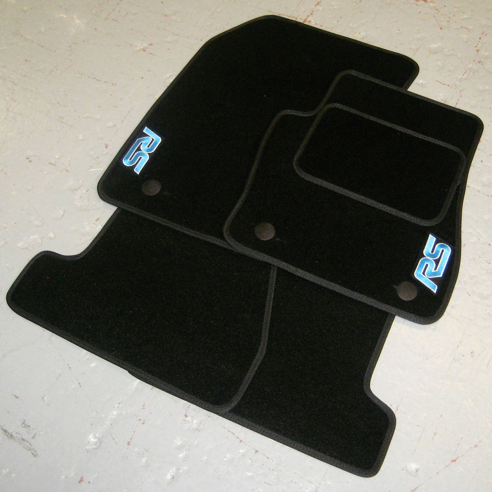 Ford Focus RS MK2 (2009-2010) Tailored Logo Car Mats + RS Logos
