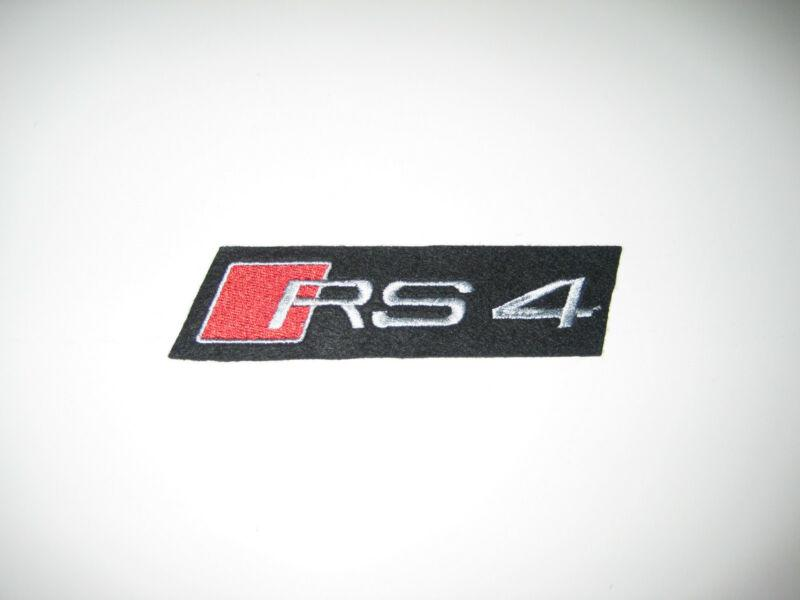 Car Mats in Dark Grey with Black trim to fit Audi RS4 B5 (2000-2001) + RS4 Logos