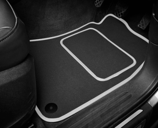 Mercedes-Benz C-Class Saloon (2007-2014) Tailored Logo Car Mats + Mercedes-Benz Logos
