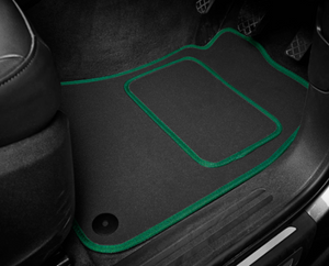 Set of ULTRA THICK BLACK CAR MATS 4 fully tailored fitted logo car mats to fit the Audi Q3 (2011-2018) first generation models.