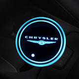 (Only £11.99 TODAY) 7 Colors Led Changing Car Logo Cup Coaster(1PC), TYPE - CHRYSLER