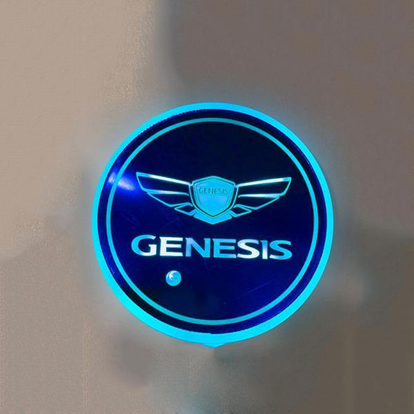 (Only £11.99 TODAY) 7 Colors Led Changing Car Logo Cup Coaster(1PC), TYPE - GENESIS
