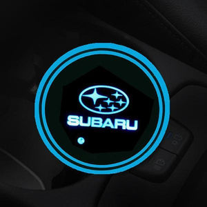 (Only £11.99 TODAY) 7 Colors Led Changing Car Logo Cup Coaster(1PC), TYPE - SUBARU