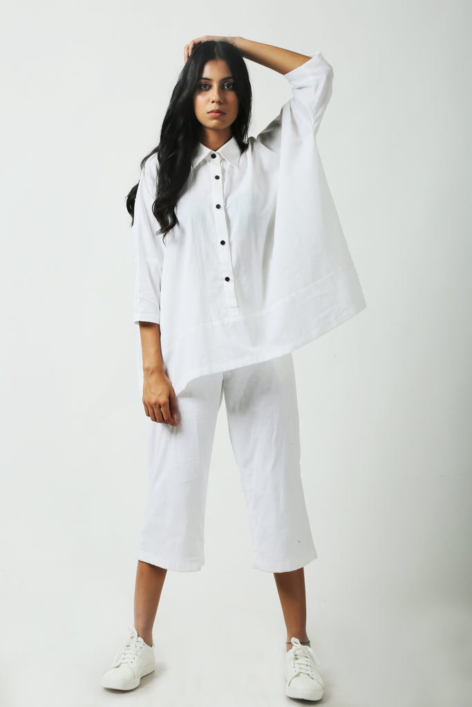 White crop pants-Pants-AT 44-6degree.store