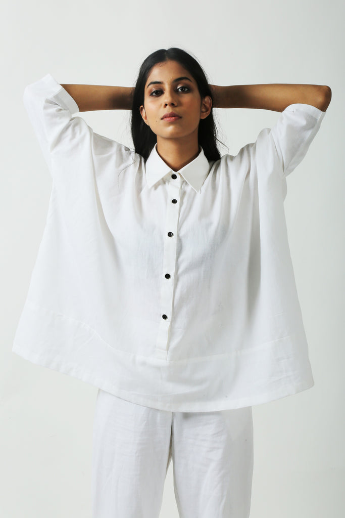 White Comfort Shirt-Shirts-AT 44-6degree.store