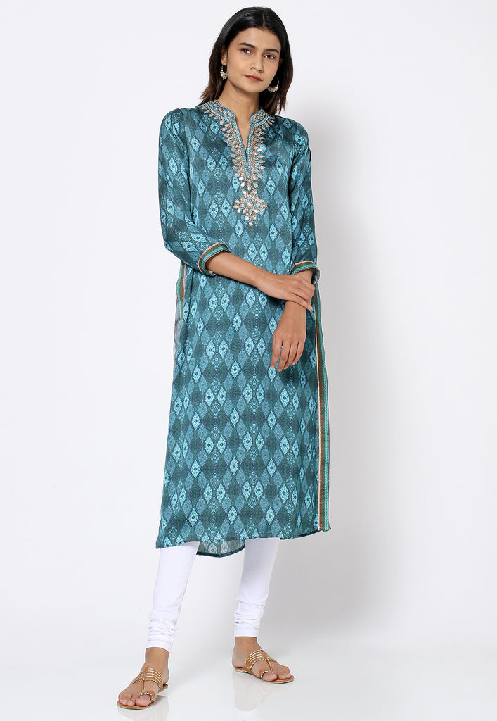 Bali Satin Tunic-Tunic-UNKU-6degree.store