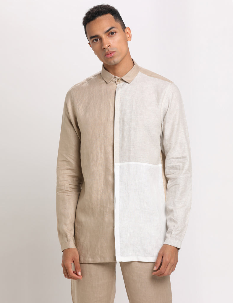 Coco Beige Shirt-Mens Shirt-SON OF A NOBEL SNOB-6degree.store