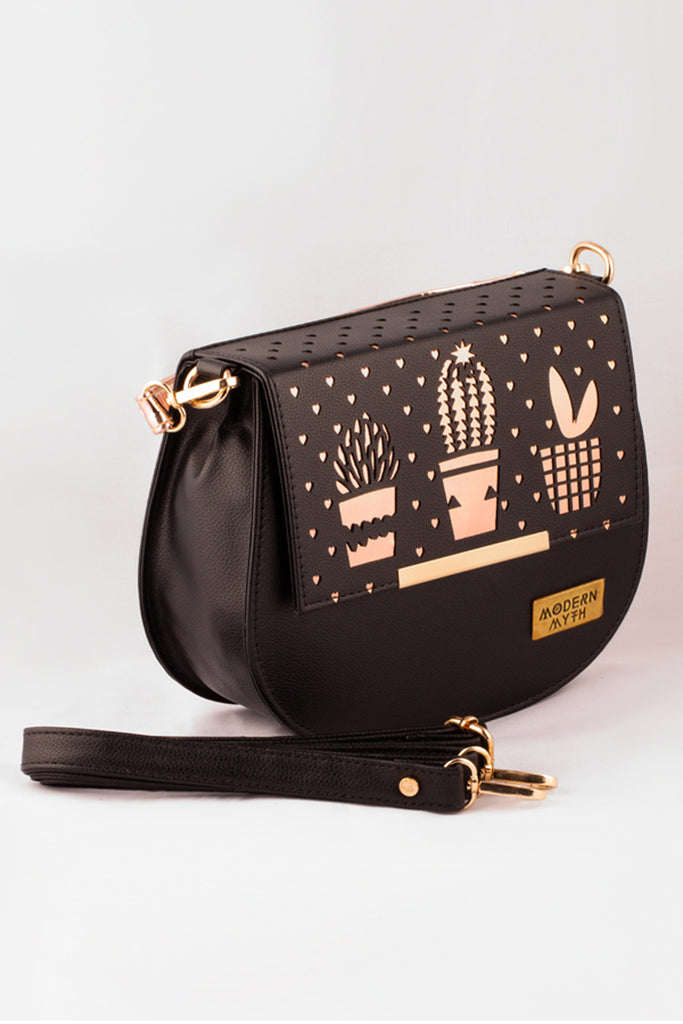 Black Cactus Harmony Sling Bag-Accessories-MODERN MYTH-6degree.store
