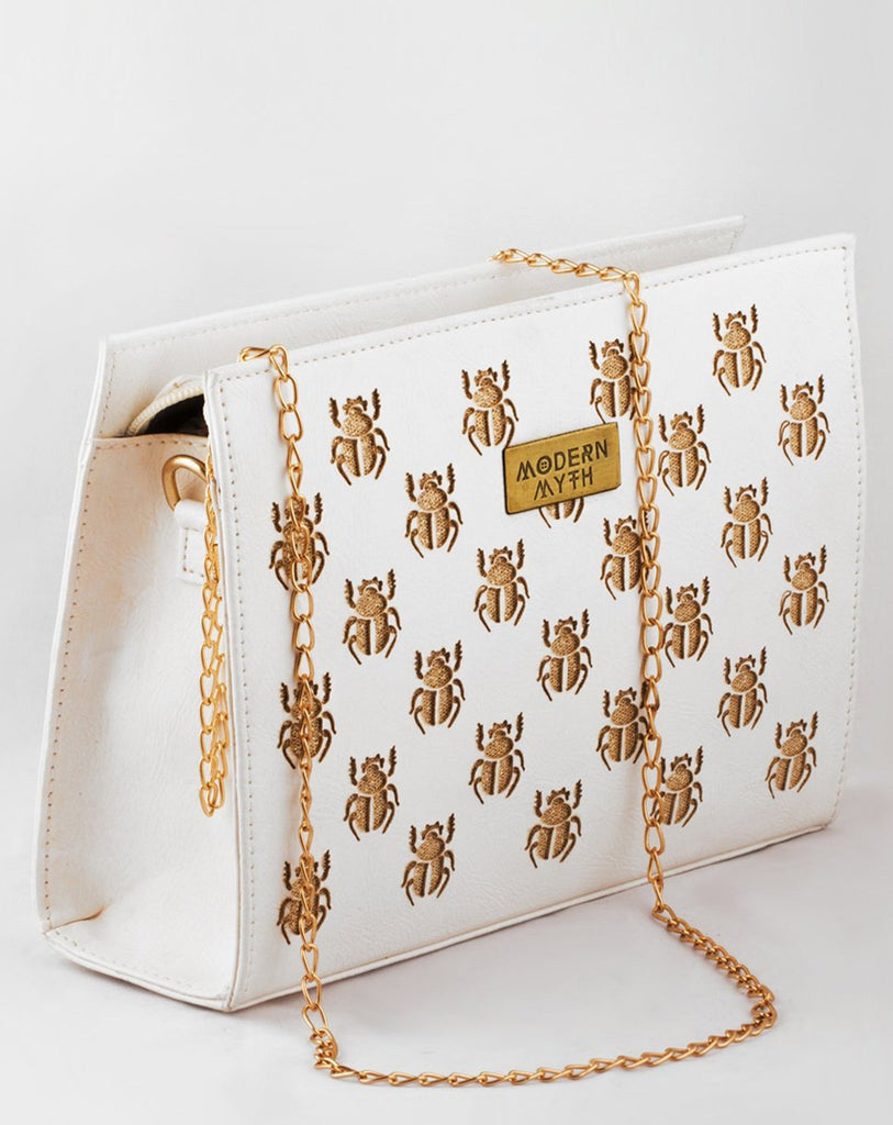 White Bugs of Paradise Sling Bag-Accessories-MODERN MYTH-6degree.store