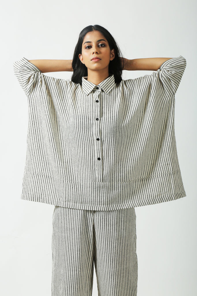 Striped Comfort Shirt-Shirts-AT 44-6degree.store