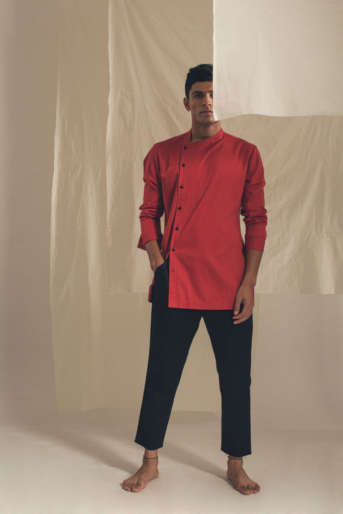 Twist Shirt-Mens Shirt-ANTAR AGNI-6degree.store