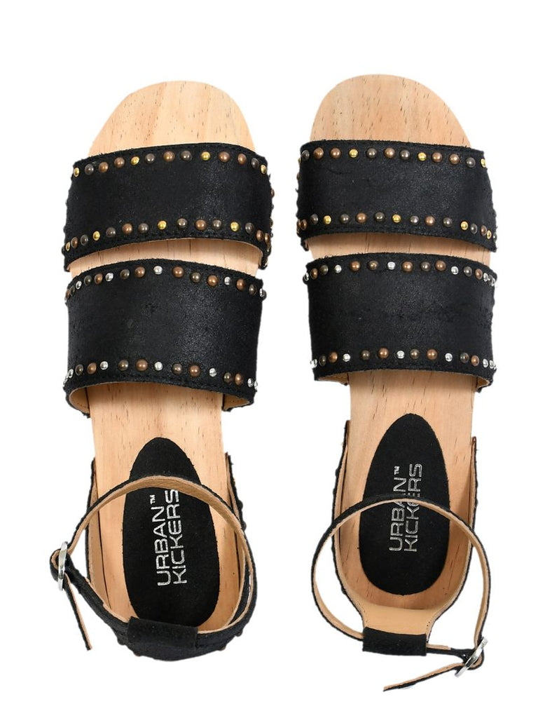 Studded Leather Flats-Accessories-URBAN KICKERS-6degree.store