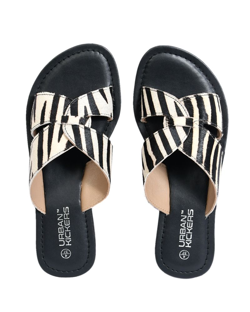 Zebra Print Hair On Leather Flats-Accessories-URBAN KICKERS-6degree.store