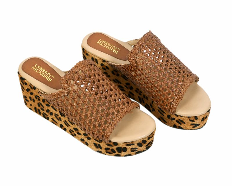 Brown Leopard Print Wedges-Accessories-URBAN KICKERS-6degree.store