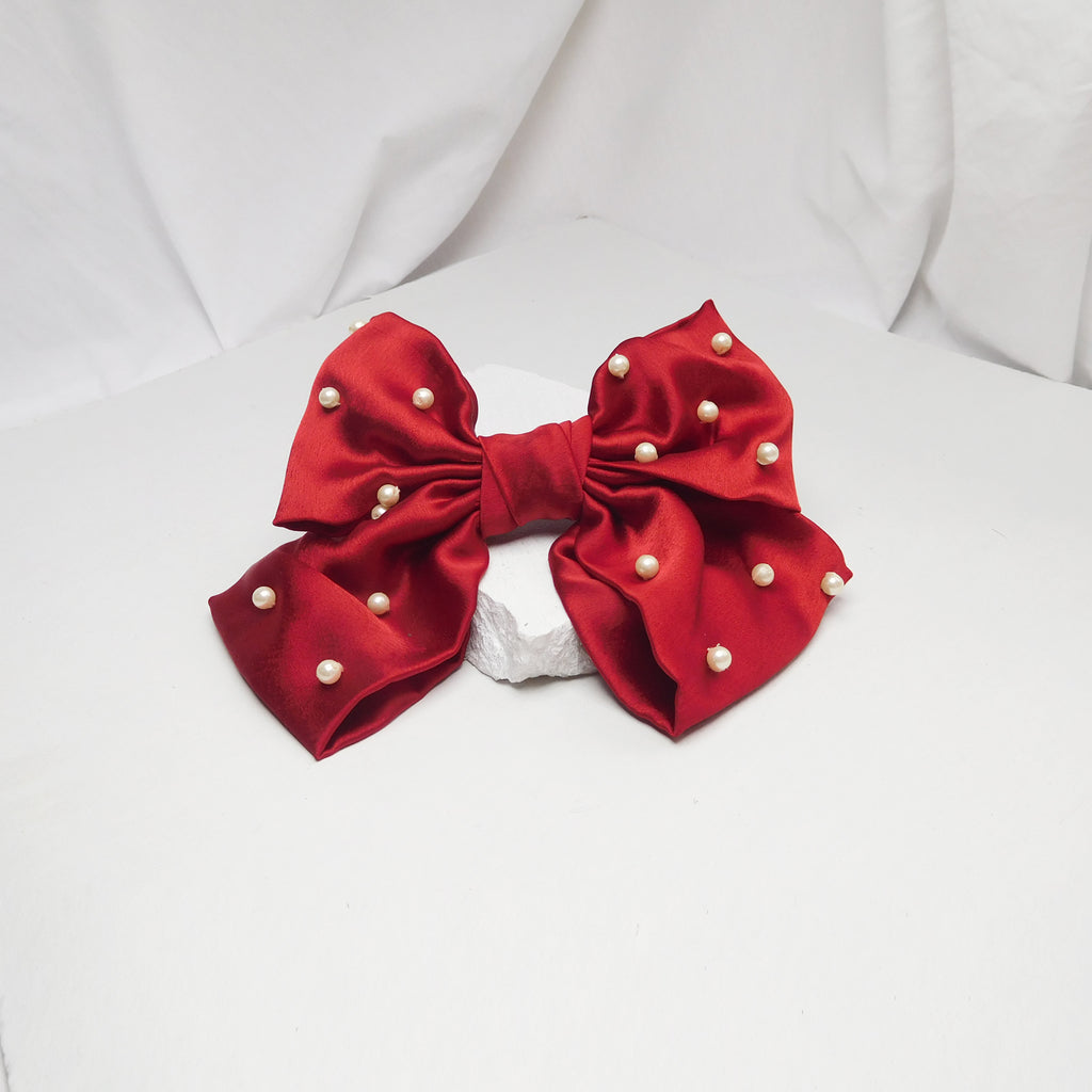 ASTER RED BOW-Accessories-SOHO BOHO STUDIO-6degree.store