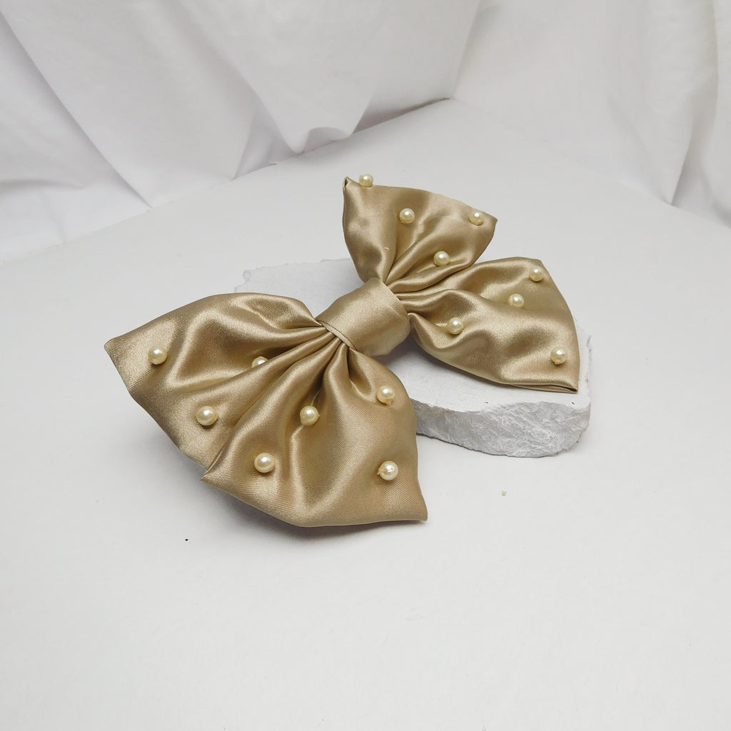 CARAMEL BOW-Accessories-SOHO BOHO STUDIO-6degree.store