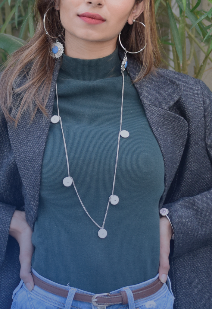 Cinq long necklace-Accessories-THE ORBIT-6degree.store