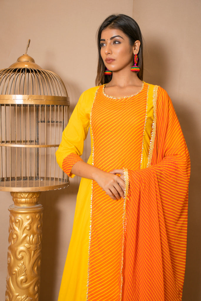 Yellow Lavanya-Palazzo Set-CHOKHI BANDHANI-6degree.store