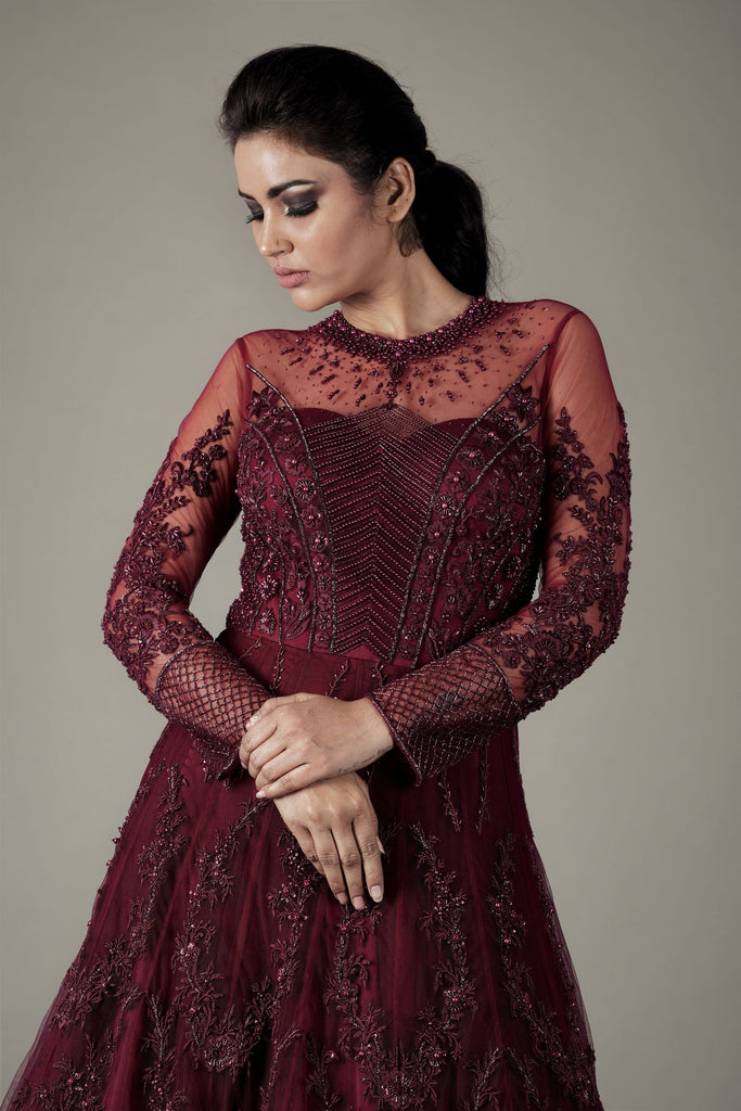 Wine Heavy Kalidar Gown-Gown-NAFFS-6degree.store