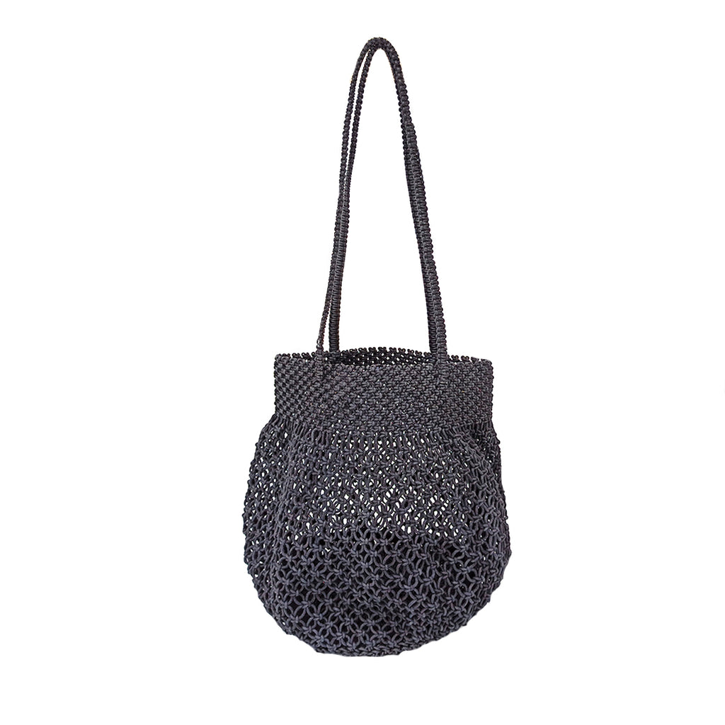 Black Macramé Beach Bag-Accessories-IMARS FASHION-6degree.store