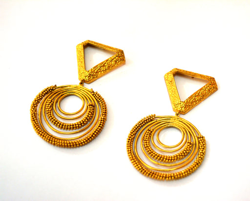 Earrings Golden-Accessories-ITRANA-6degree.store