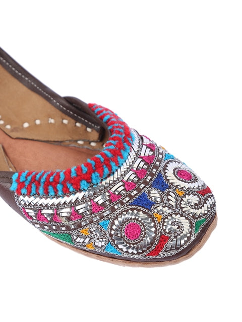 Mukaish Work Multicolor Jutti-Accessories-5 ELEMENTS-6degree.store