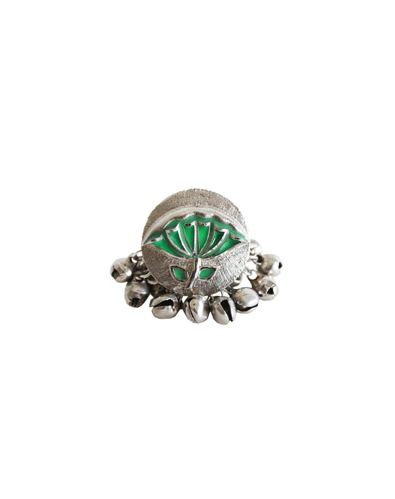 Lotus Leaf Enamel Ring-Accessories-HYPERBOLE-6degree.store