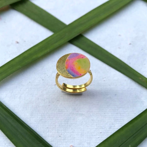 Phase Ring-Gibbous Moon-Accessories-MITALI JAIN-6degree.store