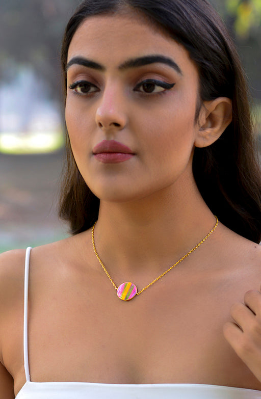 Phase Necklace-Gibbous Moon-Accessories-MITALI JAIN-6degree.store