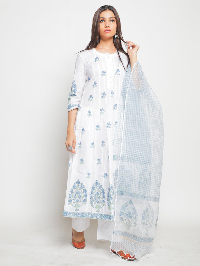 Neel baagh Kurta and Dupatta Set-Kurtas-MAISON SHEFALI-6degree.store