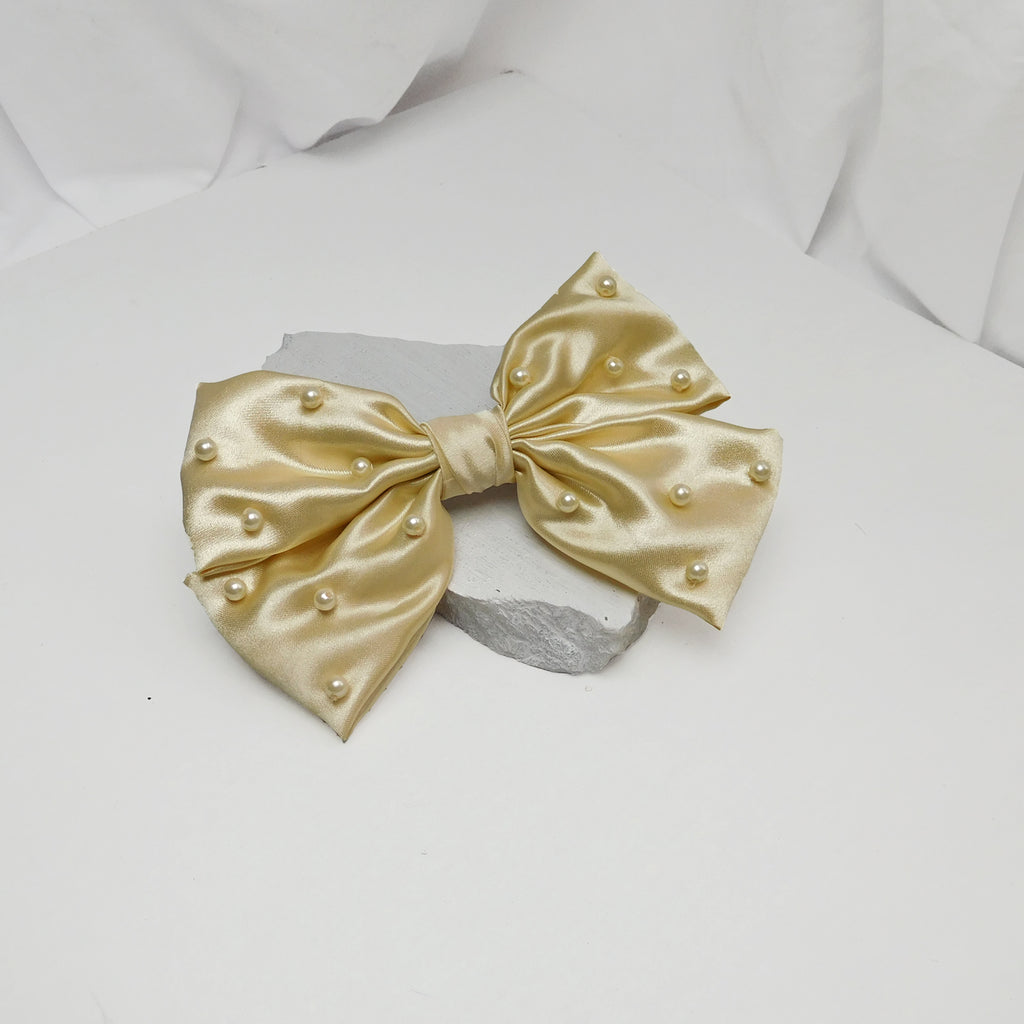 NOAH CRÈME BOW-Accessories-SOHO BOHO STUDIO-6degree.store