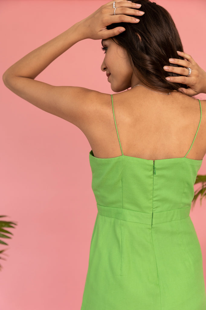 Green Playsuit-Dress-URBAN SUBURBAN-6degree.store
