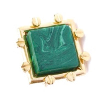 Green Malachite Ring-Accessories-ROSADAMASCENA-6degree.store