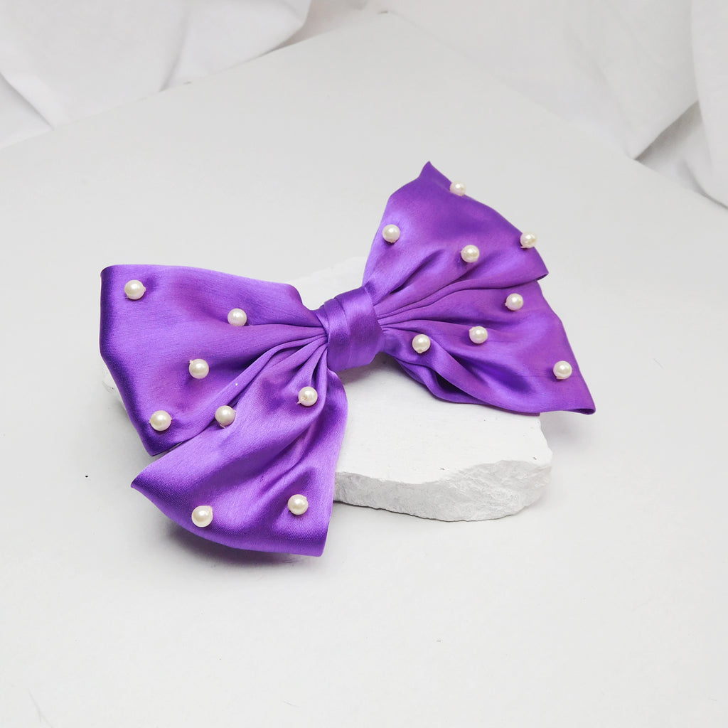 ROYAL PURPLE BOW-Accessories-SOHO BOHO STUDIO-6degree.store