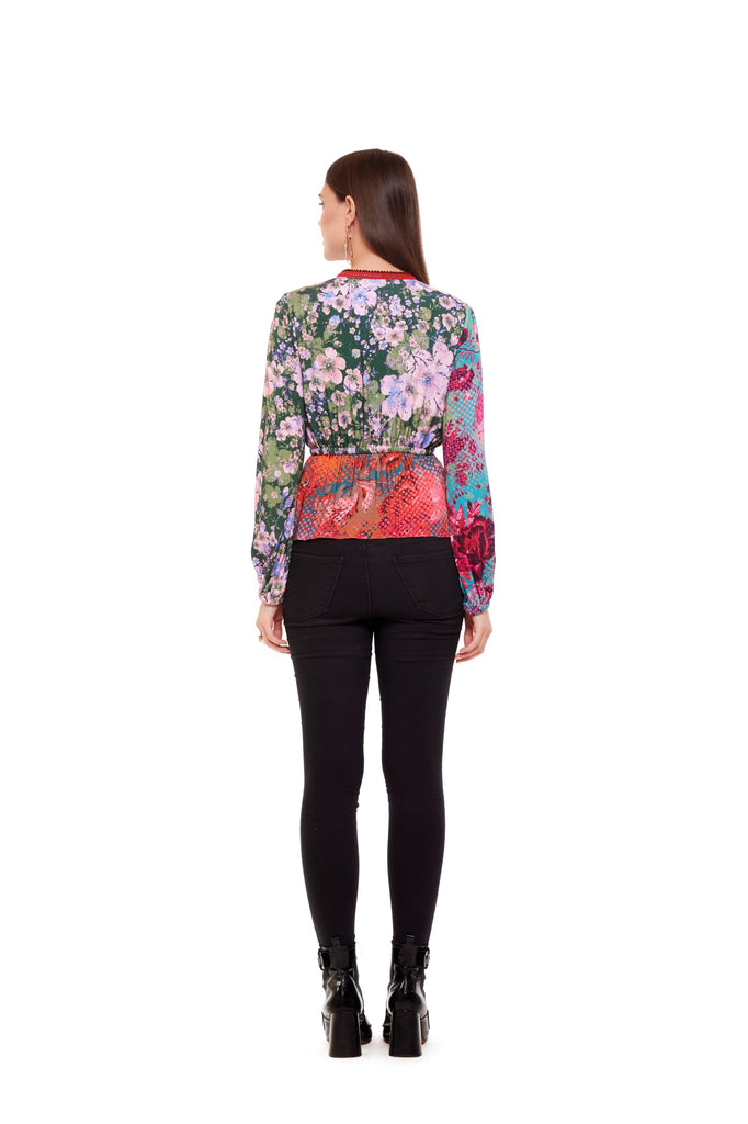 Multi Color Wrap Top-Tops-Siddhartha Bansal-6degree.store