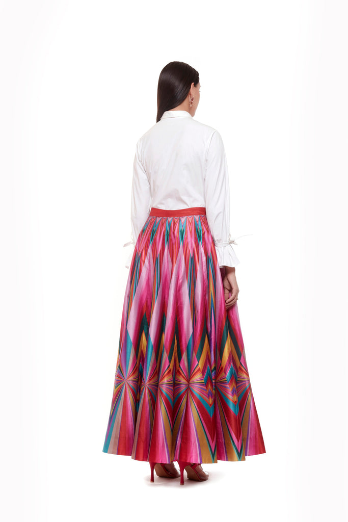 Pink Multi Color Skirt-Skirts-Siddhartha Bansal-6degree.store