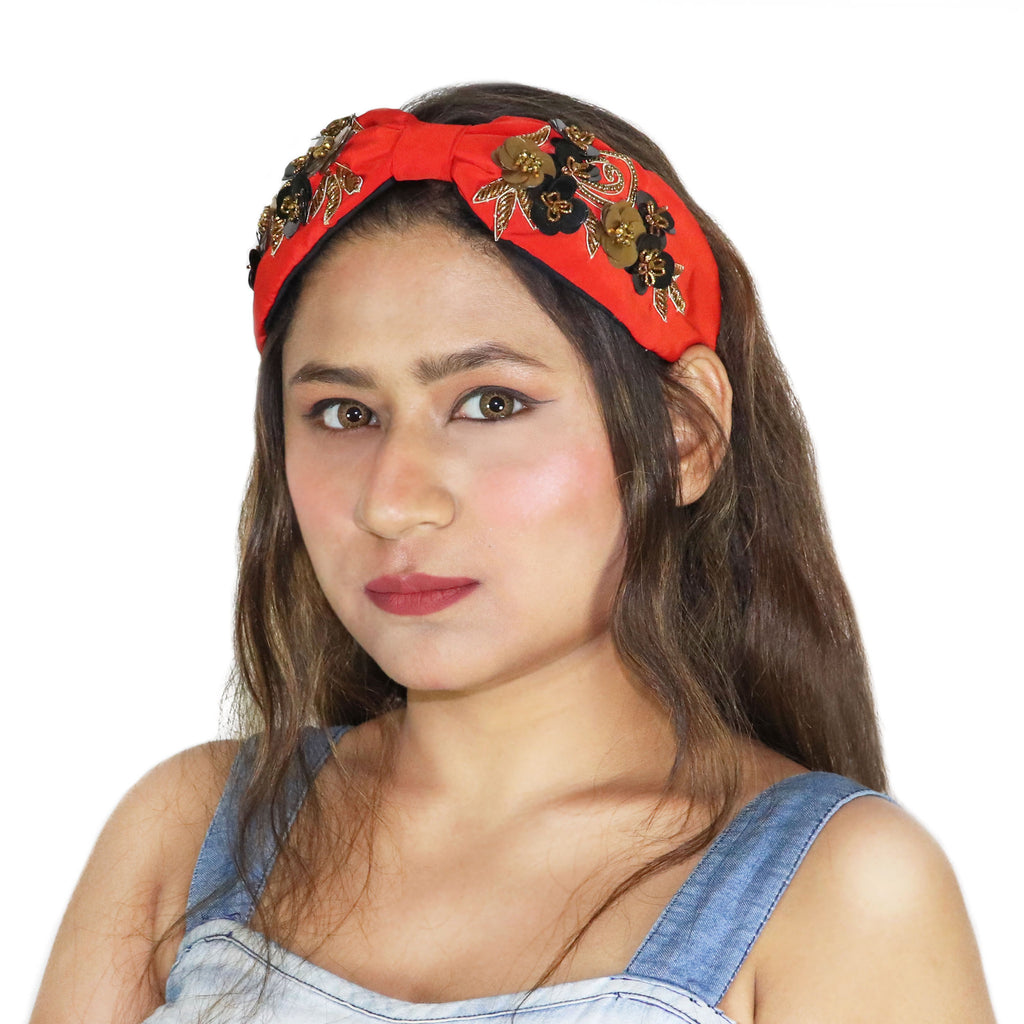 Roselle Red Hairband-Accessories-SOHO BOHO STUDIO-6degree.store