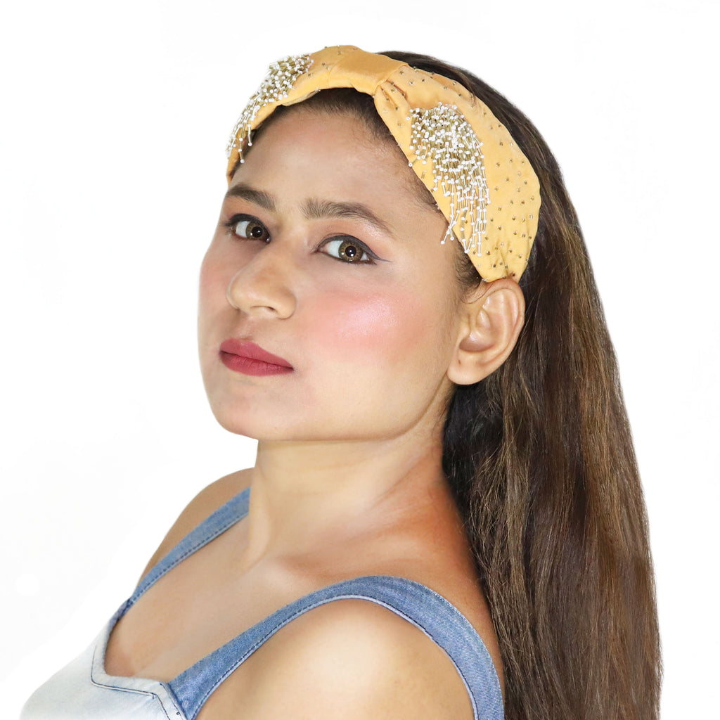 Dandelion Gold Hairband-Accessories-SOHO BOHO STUDIO-6degree.store