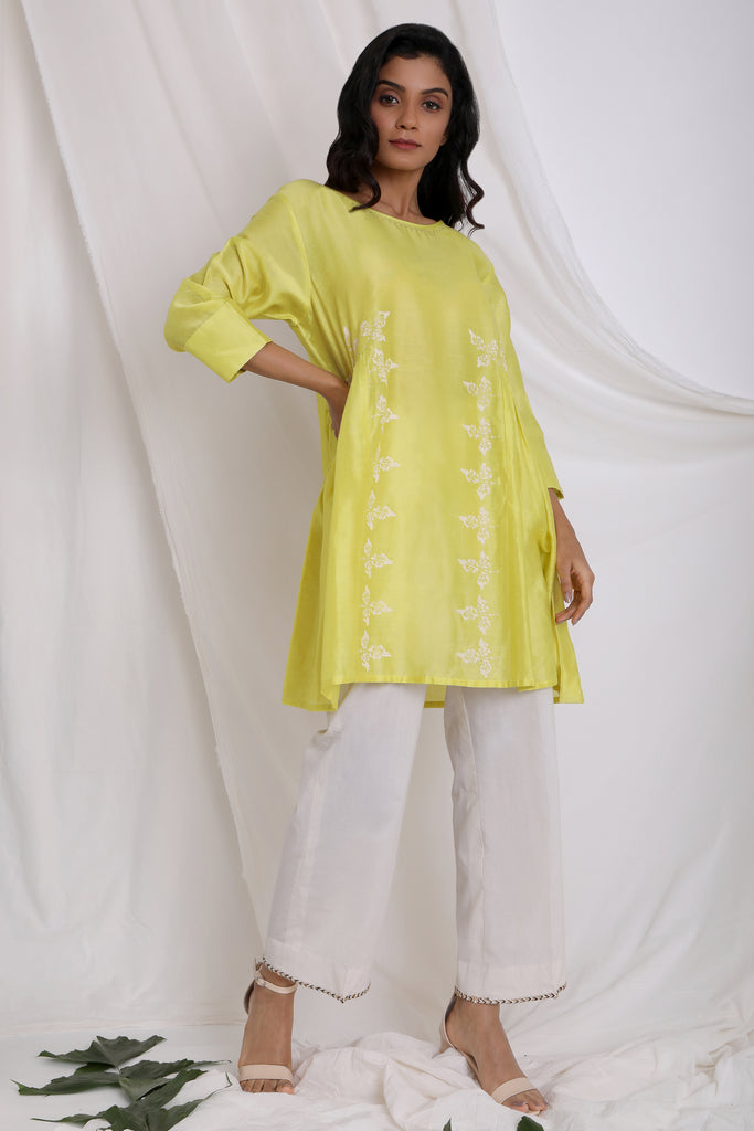 LIME GREEN MARKED BY NATURE TUNIC-Tunic-AKAT-6degree.store