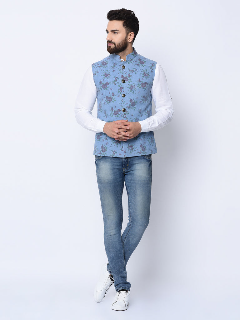 Grandma's Love Blue Bundi Jacket-Mens Jacket-SPRING BREAK-6degree.store