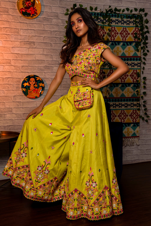 Lime green jumpsuit + belt bag-Jumpsuit-JUHI BENGANI-6degree.store
