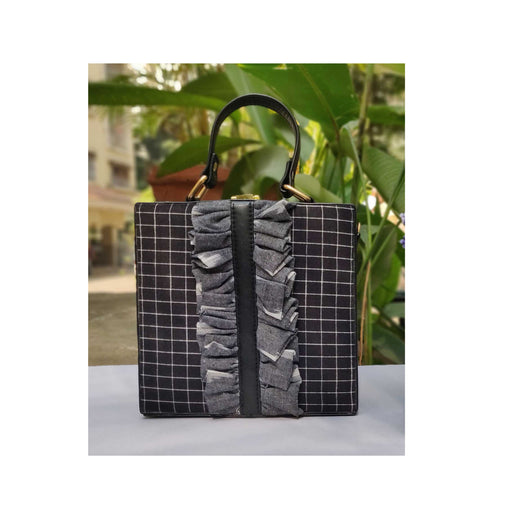 Checks Flounce Sling Bag-Accessories-NEW LEAF-6degree.store